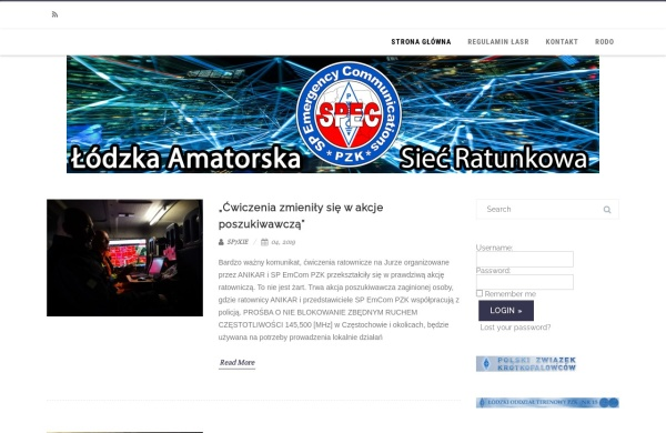 Screenshot of lasr.pzk.pl