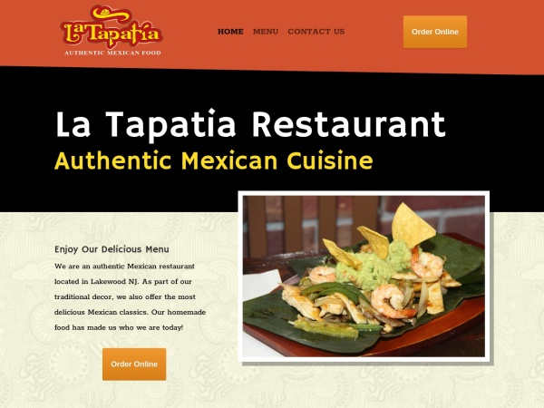 Screenshot of latapatiarestaurantnj.com
