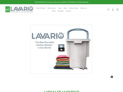 Screenshot of lavariowasher.com