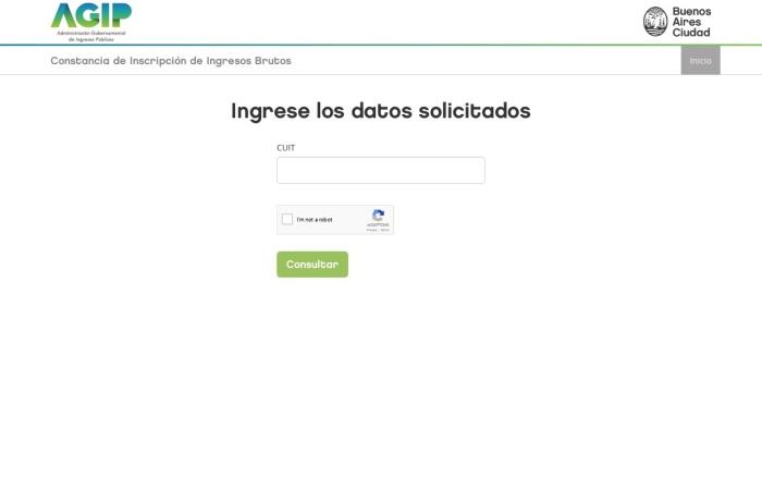 Captura de pantalla de lb.agip.gob.ar