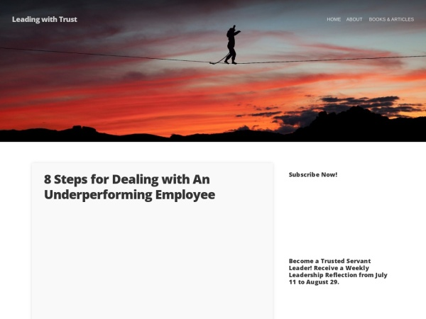 Leading with Trust Screenshot