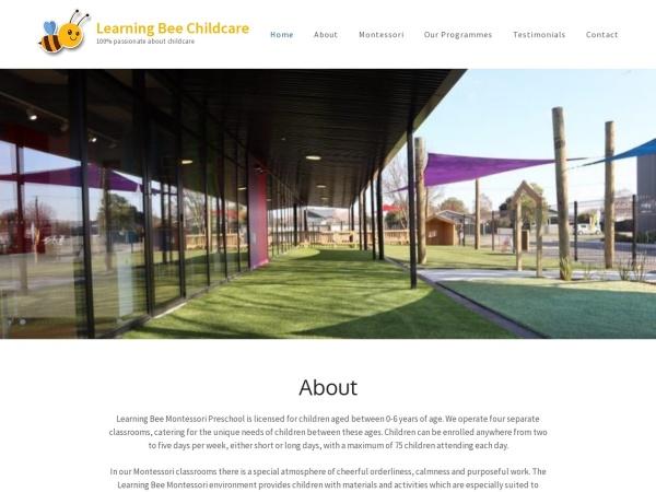 Screenshot of learningbeechildcare.co.nz
