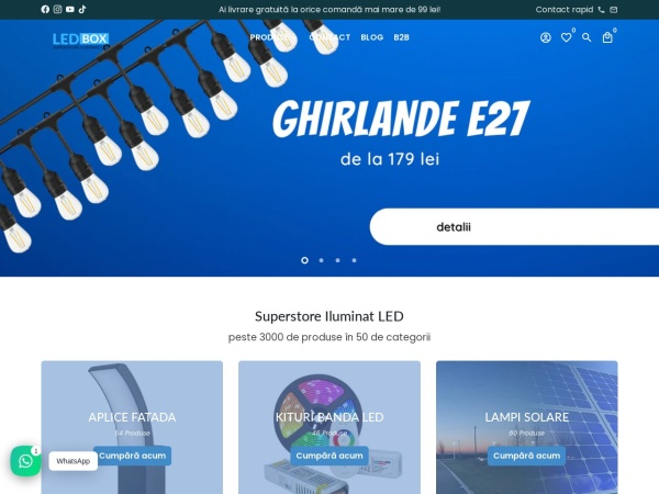 Screenshot of led-box.ro