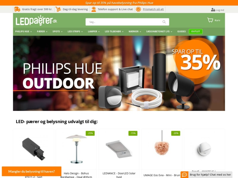 ledpaerer.dk kampagnekode