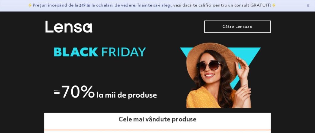 Screenshot of lensa.ro