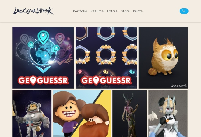 Screenshot of leoogawalillrank.artstation.com