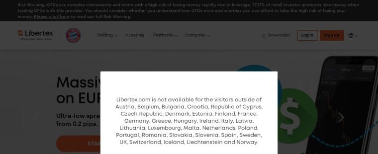 Screenshot of libertex.com