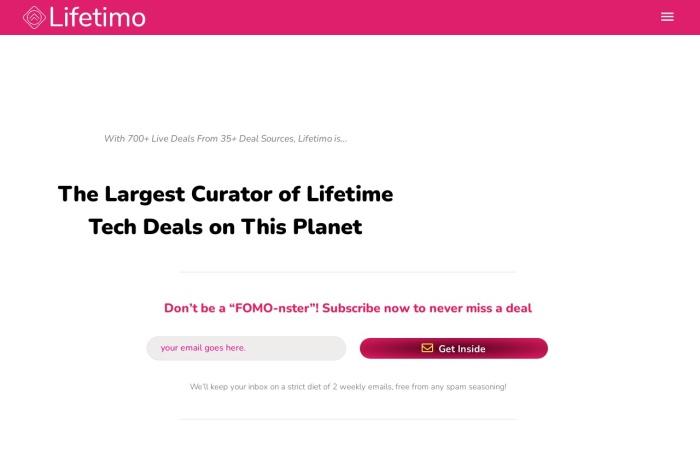 Screenshot of lifetimo.com