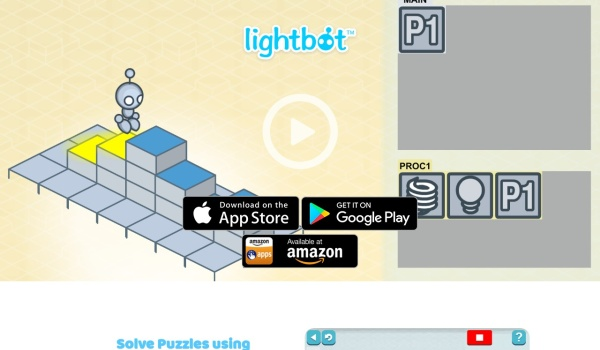 Screenshot of lightbot.com
