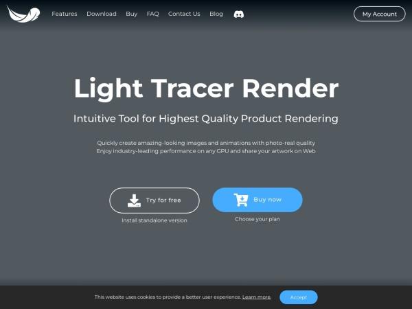 Screenshot of lighttracer.org