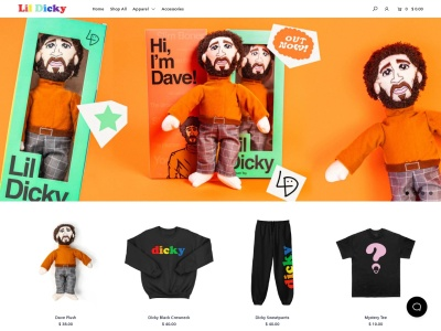 Screenshot of lildickymerch.com