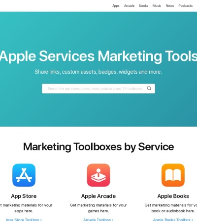 Screenshot of linkmaker.itunes.apple.com