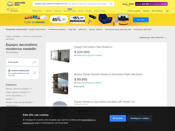 Captura de pantalla de listado.mercadolibre.com.co