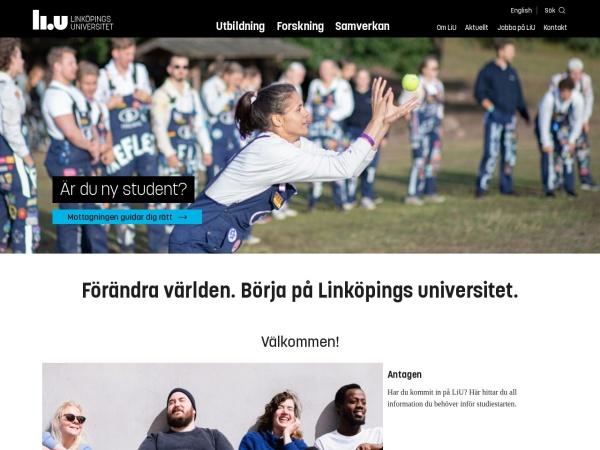 Screenshot of liu.se