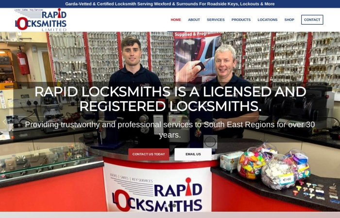 Screenshot of locksmithswexford.ie