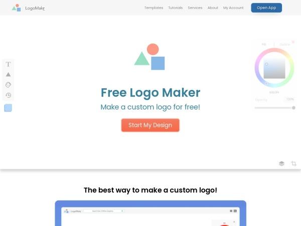 Screenshot of logomakr.com