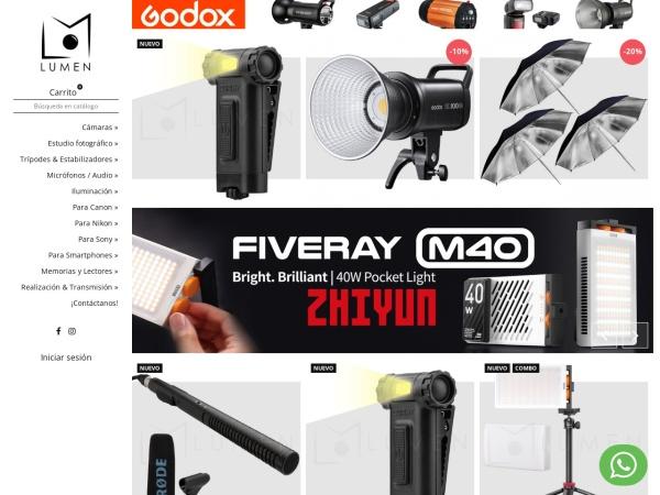 Captura de pantalla de lumen-colombia.com