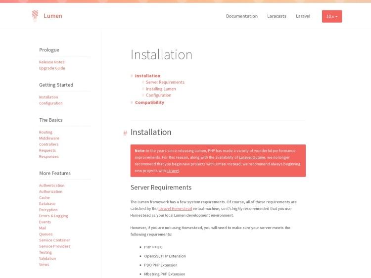 Lumen - PHP Micro-Framework By Laravel