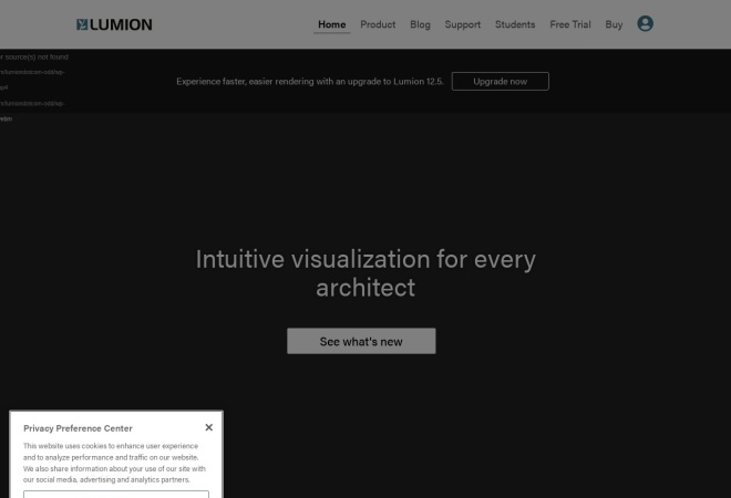 Screenshot of lumion3d.com