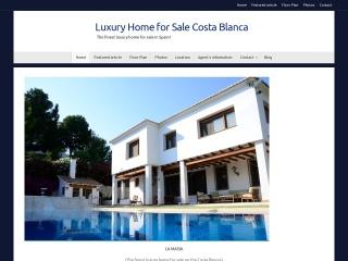Screenshot of luxuryhomeforsalecostablanca.com