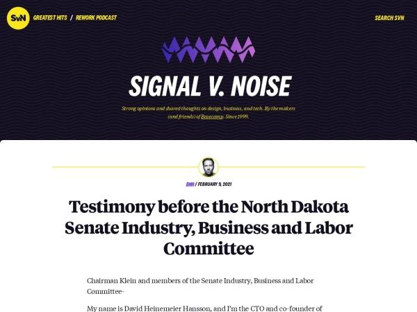 Signal V. Noise Screenshot