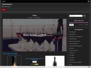 Screenshot of maddrikkefest.scancorp.dk