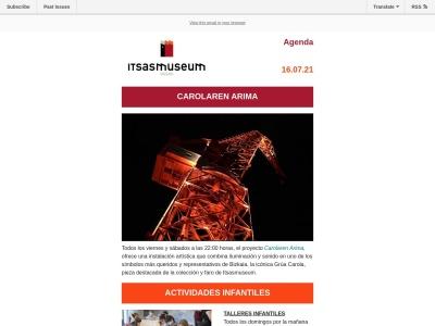 Captura de pantalla de mailchi.mp