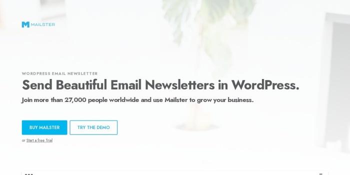 Screenshot of mailster.co