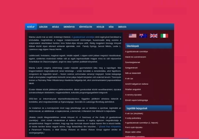 Screenshot of malota.hu