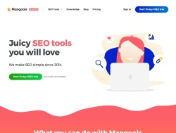 Screenshot of mangools.com