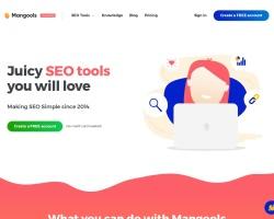 Captura de pantalla de mangools.com