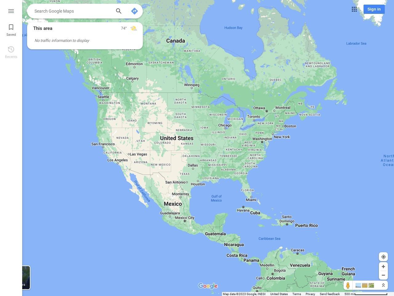 Screenshot of maps.google.com