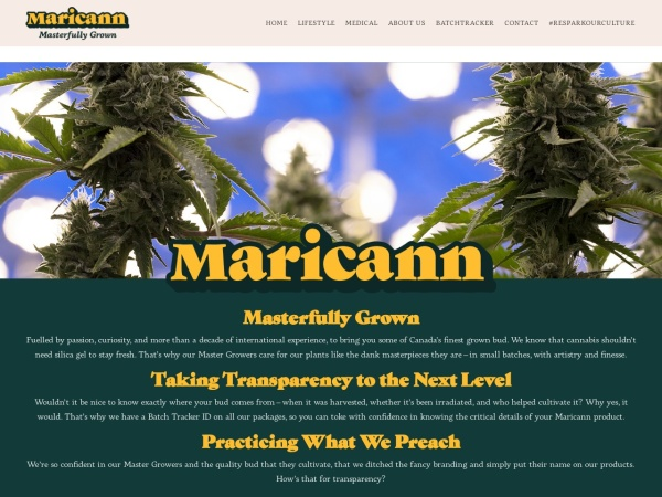 Screenshot of maricann.com