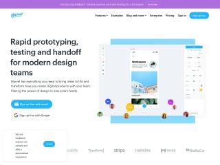 Screenshot of marvelapp.com