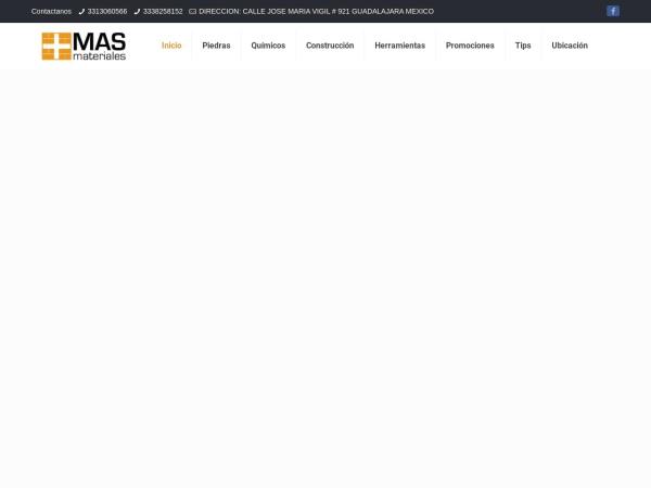 Captura de pantalla de masmateriales.com