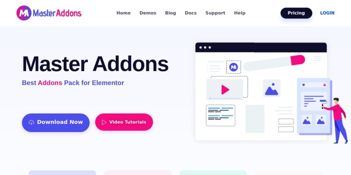 Screenshot of master-addons.com