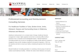 Screenshot of maxwellhc.com