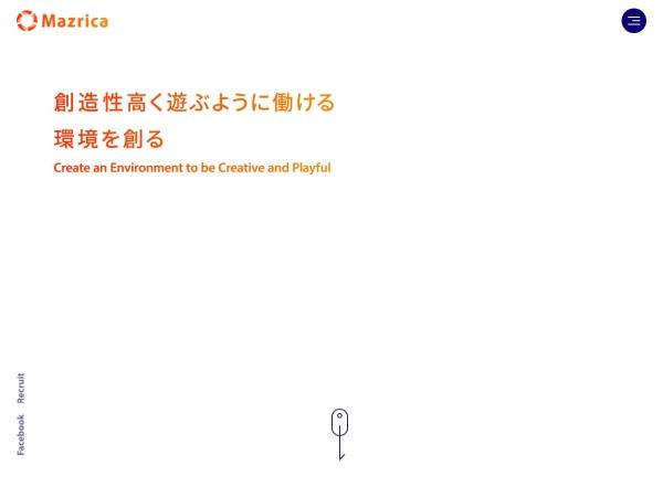Screenshot of mazrica.com