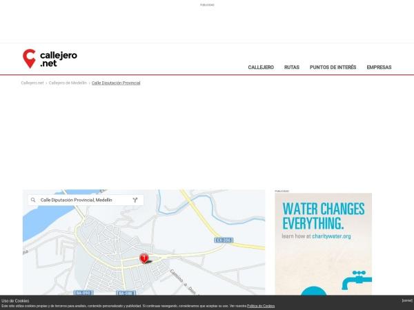 Captura de pantalla de medellin.callejero.net
