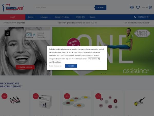 Screenshot of medicam3.ro