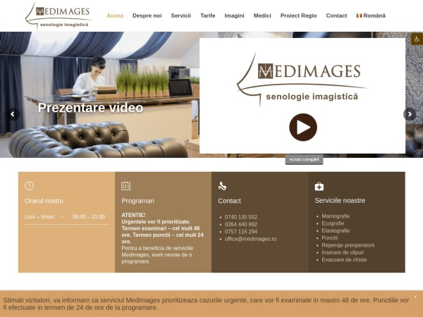 Screenshot of medimages.ro