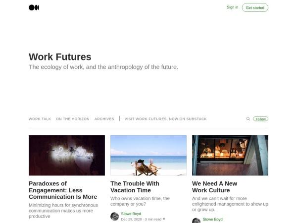 Work Futures Screenshot