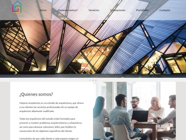 Captura de pantalla de mejoresarquitectos.com