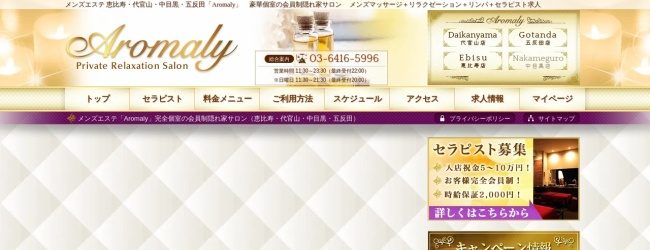 Screenshot of mens-esute.jp