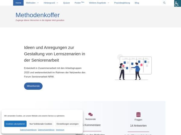 Screenshot von methoden.forum-seniorenarbeit.de