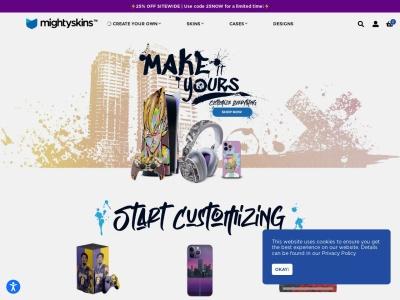 Screenshot of mightyskins.com