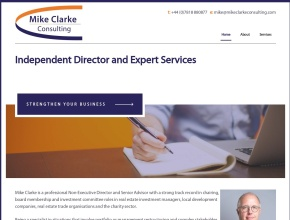 Screenshot of mikeclarkeconsulting.com