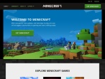Screenshot of minecraft.net