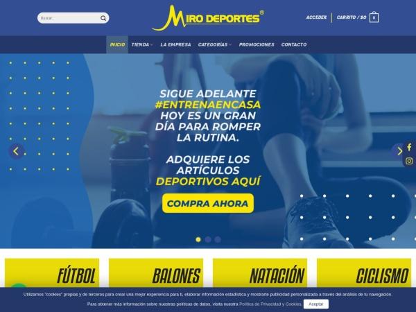 Captura de pantalla de mirodeportes.com