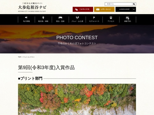 Screenshot of miyoshi-tourism.jp